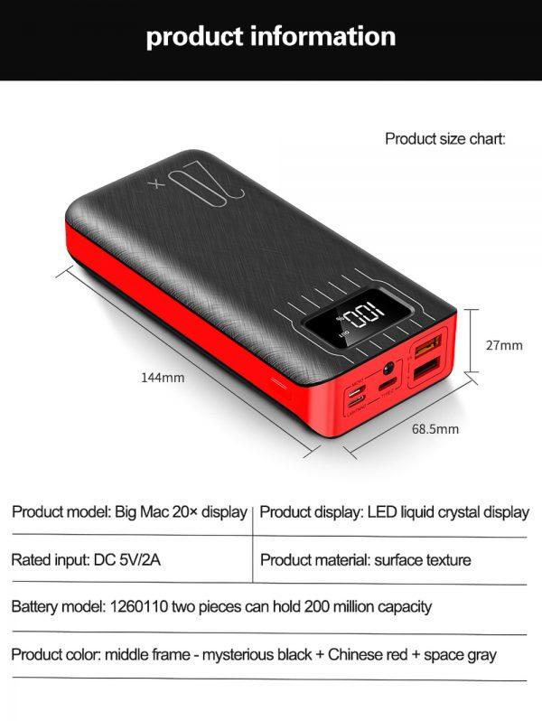 Power Bank BASICS Z20 20000mAh