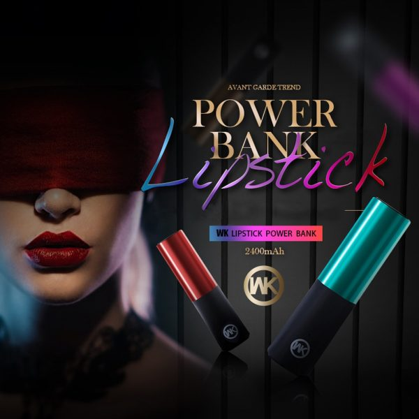 Power Bank WK Lipstick 2400mAh
