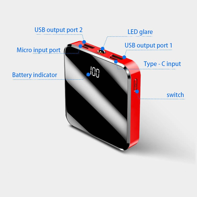 Portable 20000mAh Mini Power Bank