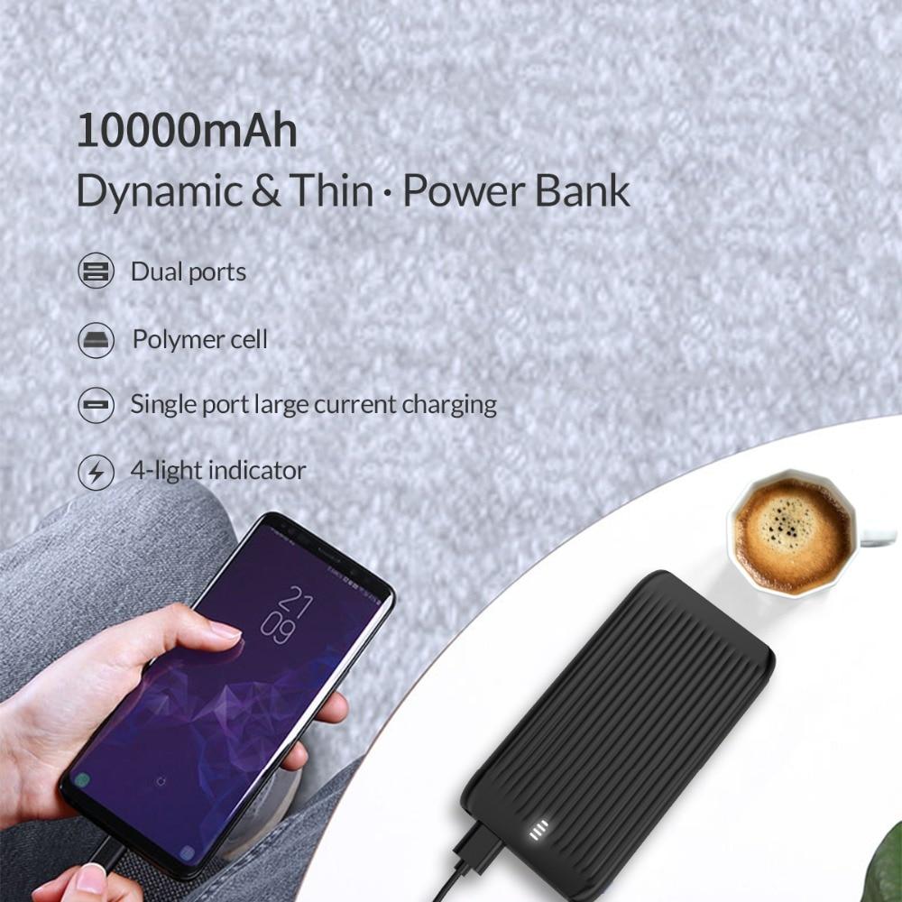 10000 mAh Dual USB Slim Power Bank