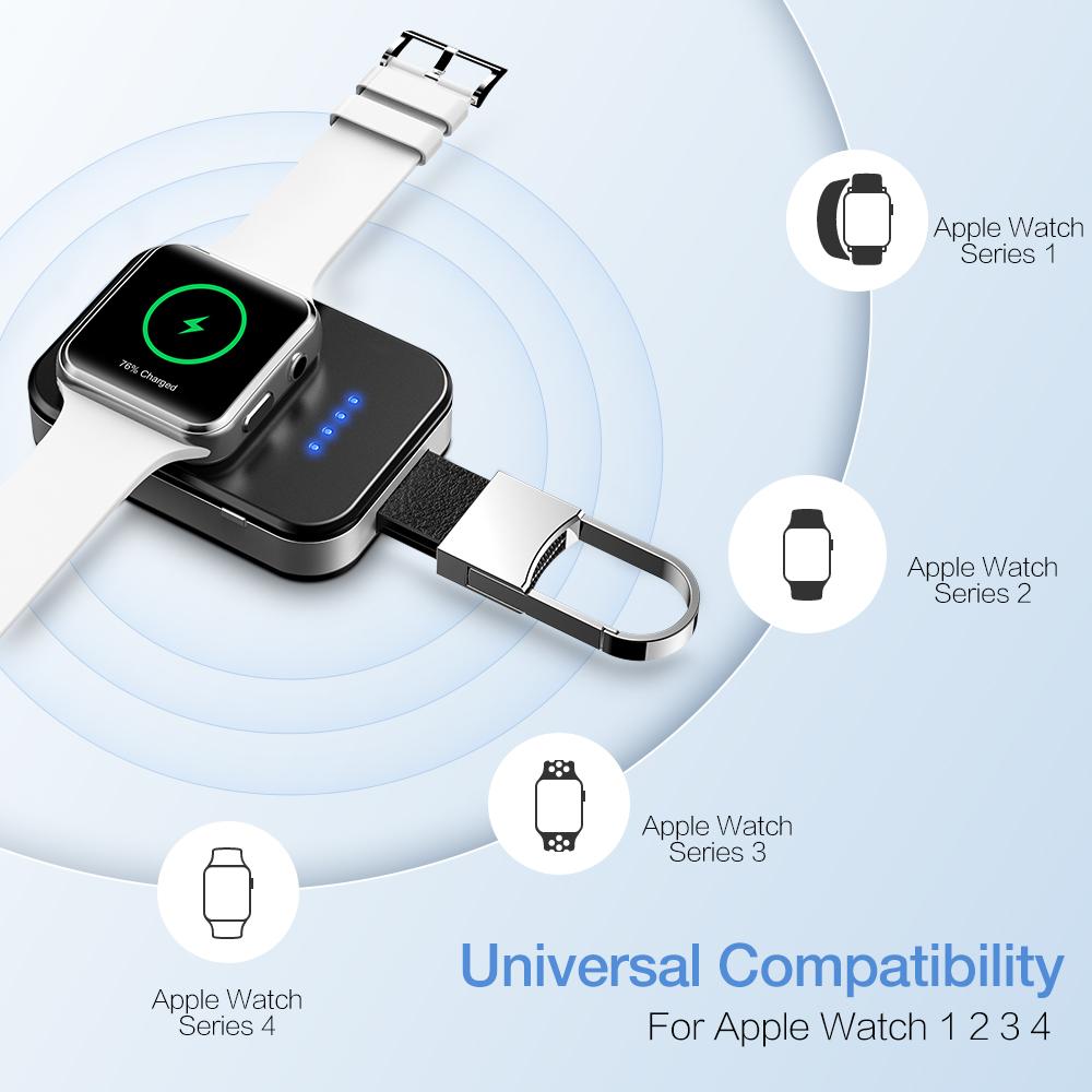 950 mAh Wireless Apple Watch Power Bank