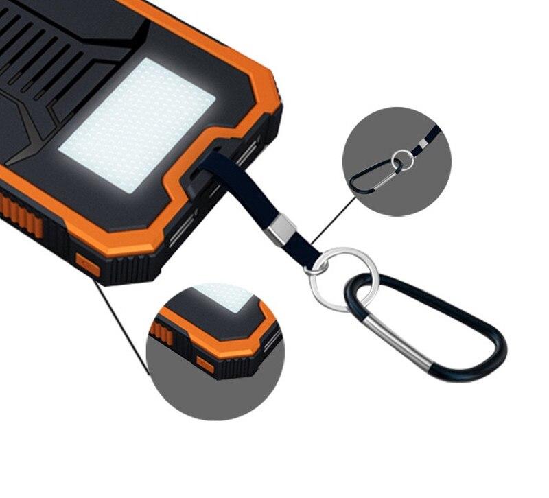Banco de energía Solar de 70000mAh para Xiaomi, cargador de batería externo, linterna de carga para teléfono móvil, batería portátil