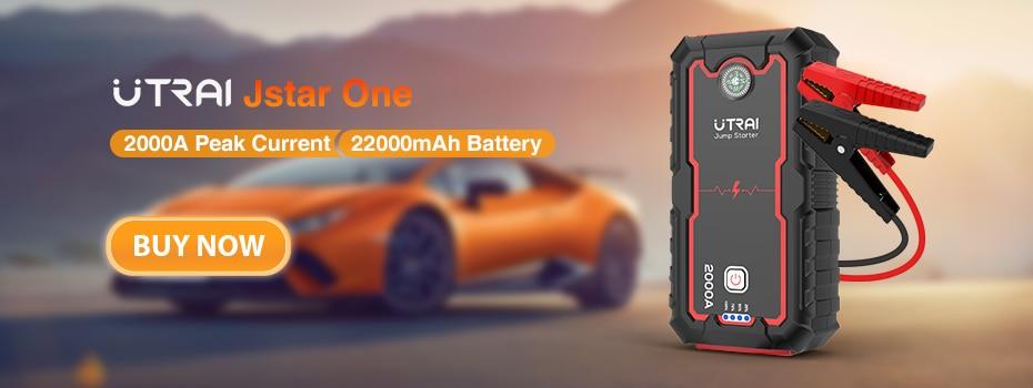 UTRAI-arrancador de batería de coche, dispositivo de arranque de 1600A, 20000mAh, cargador de emergencia para automóvil, arrancador de batería de coche