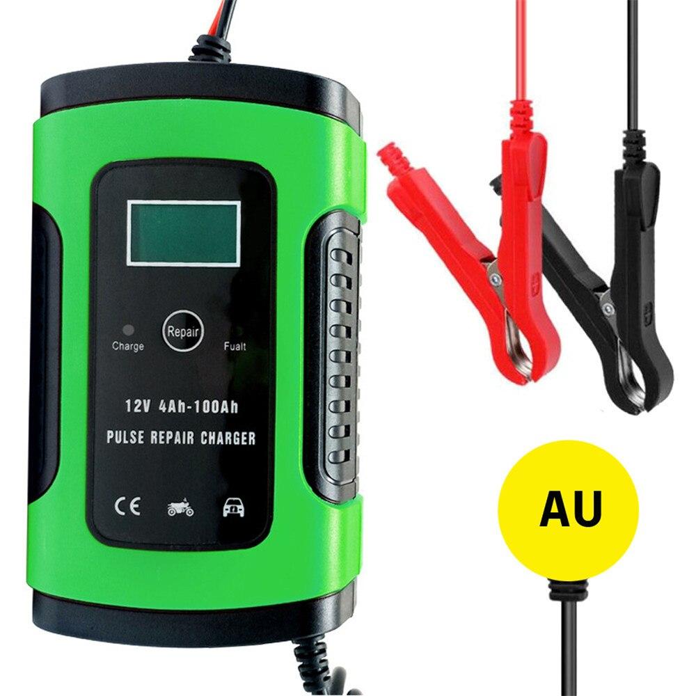 Cargador de batería de coche de 12V, arrancador de batería automático, elevador de potencia, mantenedor, pantalla Digital inteligente LCD 6A, cargador de reparación de pulso